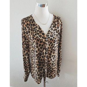 Dana Buchman leopard print blouse NWT